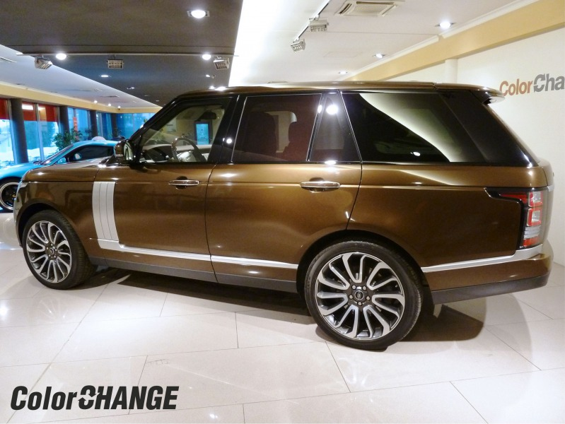 hnedý Range Rover - wrap folie Brown Metallic